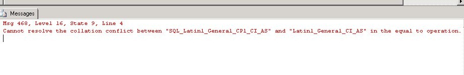 Collation Conflicts in a SQL Server Join | Voice of the DBA