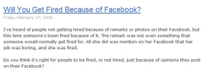 Will You Get Fired Because of Facebook?