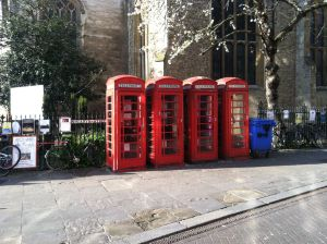 English phone boxes
