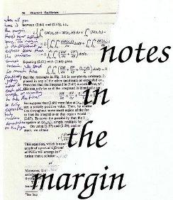 notesin the margin