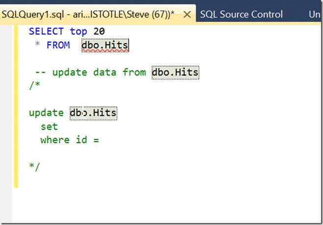 2015-09-09 15_01_45-SQLQuery1.sql - aristotle.sandbox (ARISTOTLE_Steve (67))_ - Microsoft SQL Server