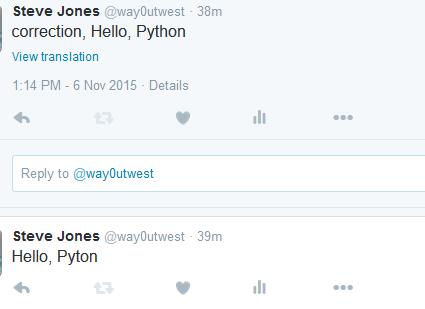 Python and Tweepy – SQLServerCentral