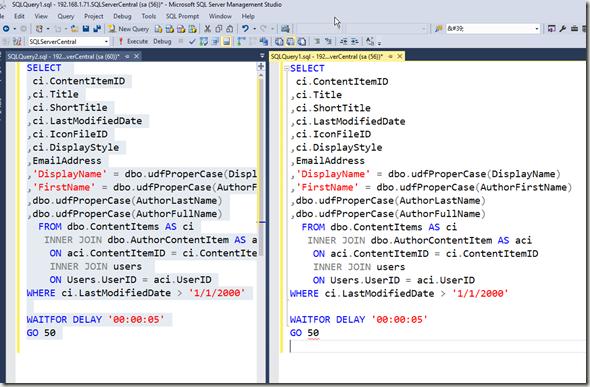 2016-05-20 14_17_34-SQLQuery1.sql - 192.168.1.71.SQLServerCentral (sa (56))_ - Microsoft SQL Server