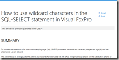 2016-06-22 13_53_40-How to use wildcard characters in the SQL-SELECT statement in Visual FoxPro