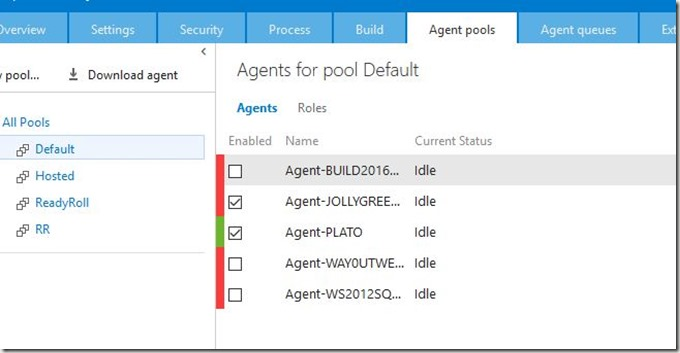2016-06-29 09_32_41-Agents for pool Default - Microsoft Team Foundation Server