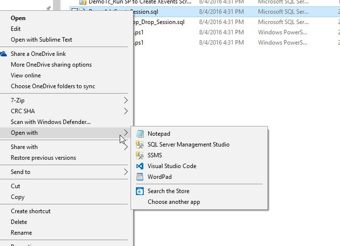 Opening  SQL Files in SSMS 2016 by Default #SQLNewBlogger