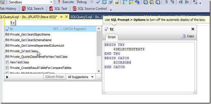2016-09-23 12_13_17-SQLQuery4.sql - (local)_SQL2014.Sandbox (PLATO_Steve (63))_ - Microsoft SQL Serv