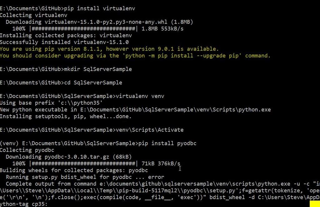 A Python SQL Server App   Voice of the DBA