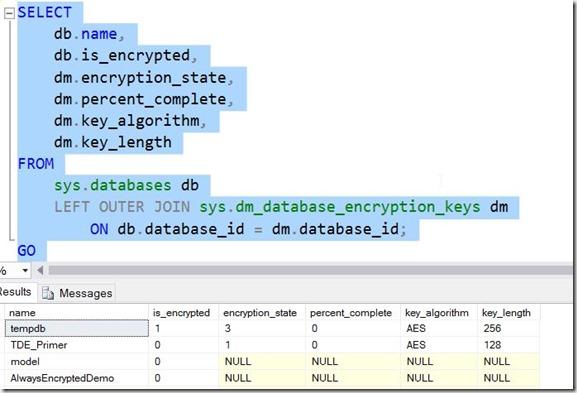 2016-11-23 11_19_00-11_TDE_Demo.sql - localhost_SQL2016.TDE_Primer (PLATO_Steve (64))_ - Microsoft S