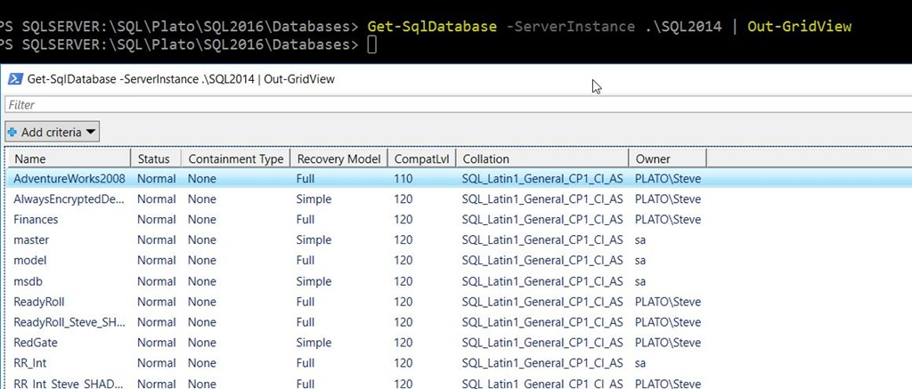Using Out-GridView To Pick Parameters–#SQLNewBlogger   Voice