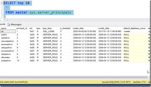 2017-01-24 10_08_56-SQLQuery2.sql - (local)_SQL2016.sandbox (JoeDev (71))_ - Microsoft SQL Server Ma