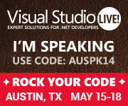 Speaking at VS Live - Austin