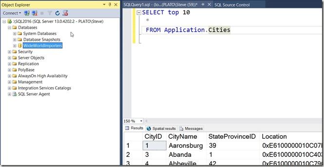 2017-05-30 09_07_28-SQLQuery1.sql - (local)_SQL2016.WideWorldImporters (PLATO_Steve (59))_ - Microso