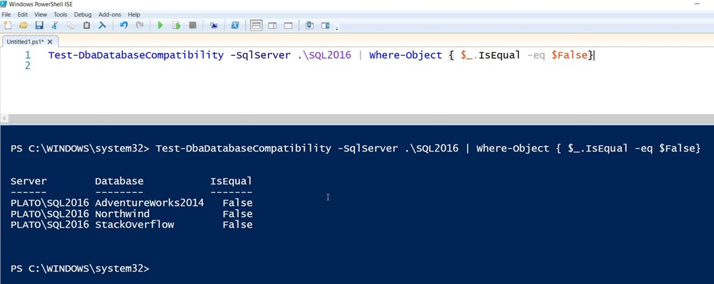 Test Database Compatability with dbatools - SQLServerCentral