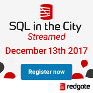 SQL in the City Dec 13 2017