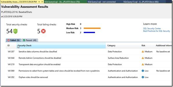 2018-02-23 17_50_17-Vulnerability Assessment - BaseballStats - 2_23_2018 5_39_26 PM - Microsoft SQL