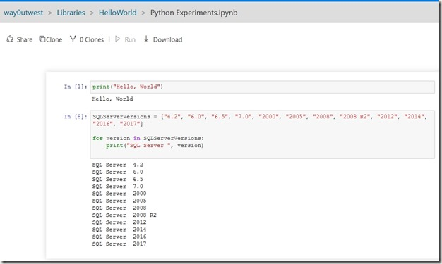 2018-04-10 11_52_27-HelloWorld_Python Experiments.ipynb (way0utwest) - Microsoft Azure Notebooks