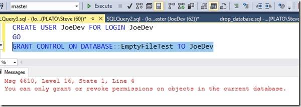 2018-07-03 11_26_07-SQLQuery3.sql - (local)_SQL2016.master (PLATO_Steve (60))_ - Microsoft SQL Serve