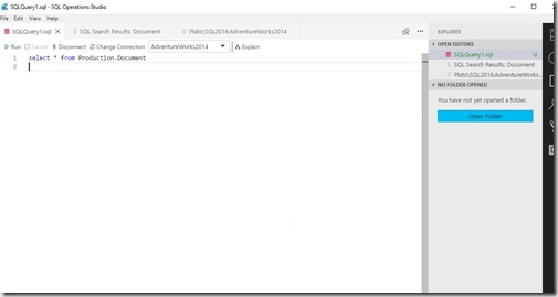 2018-07-09 20_10_49-SQLQuery1.sql - SQL Operations Studio