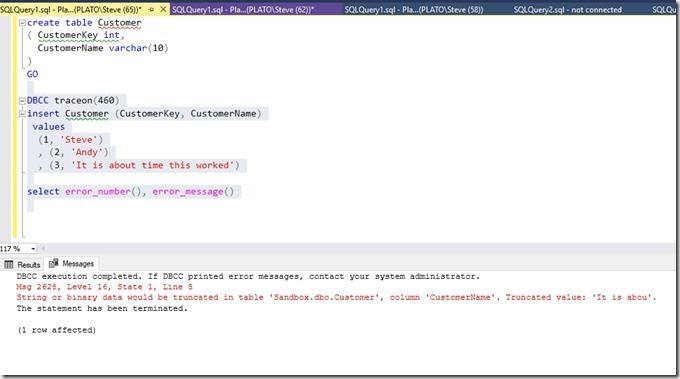 2018-09-25 15_00_20-SQLQuery1.sql - Plato_SQL2019.Sandbox (PLATO_Steve (65))_ - Microsoft SQL Server