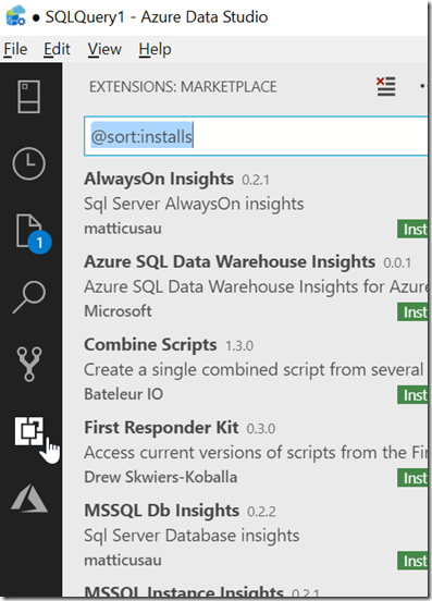 2018-10-19 17_12_50-● SQLQuery1 - Azure Data Studio