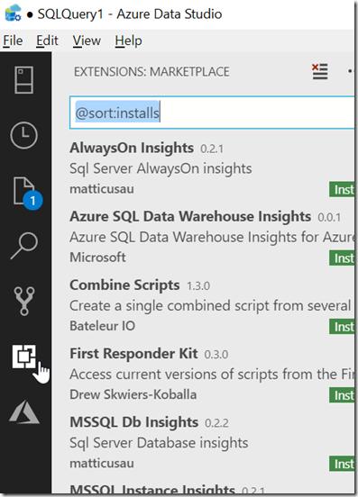 2018-10-19 17_12_50-● SQLQuery1 - Azure Data Studio