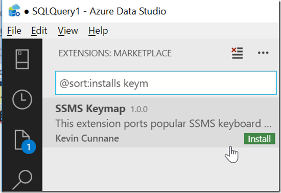 2018-10-19 17_13_03-● SQLQuery1 - Azure Data Studio