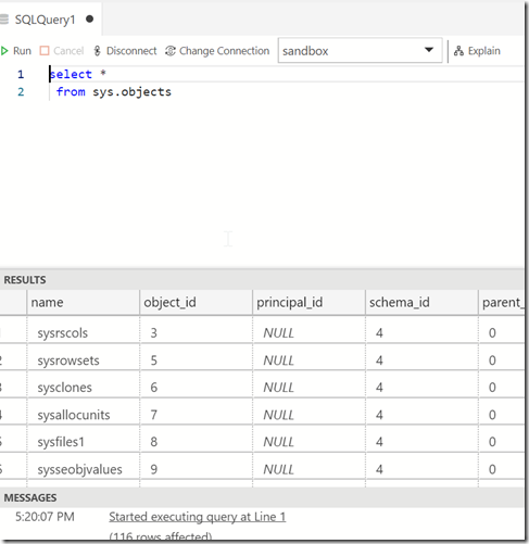 2018-10-19 17_20_10-● SQLQuery1 - Azure Data Studio