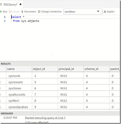 2018-10-19 17_20_10-● SQLQuery1 - Azure Data Studio