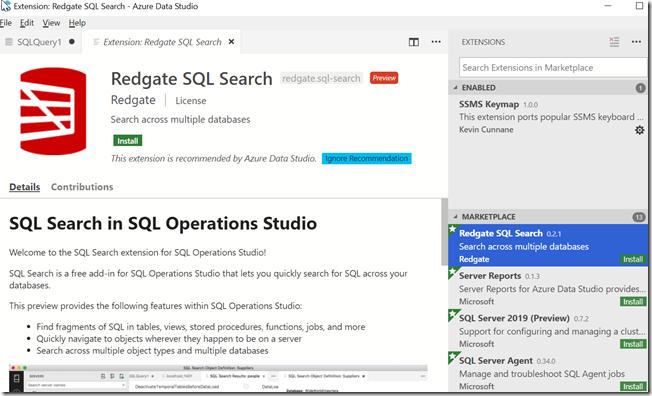 2018-10-19 17_53_21-Extension_ Redgate SQL Search - Azure Data Studio