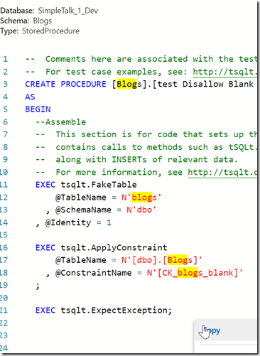 2018-10-20 16_10_10-SQL Search Object Definition_ test Disallow Blank Titles - Azure Data Studio