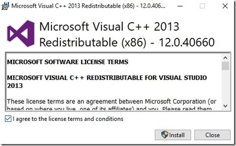 2018-11-27 12_54_58-Microsoft Visual C   2013 Redistributable (x86) - 12.0.40660 Setup