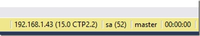 2019-01-16 18_32_59-SQLQuery3.sql - 192.168.1.43.master (sa (52)) - Microsoft SQL Server Management
