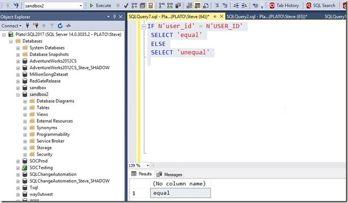 2019-02-13 12_22_07-SQLQuery7.sql - Plato_SQL2017.sandbox2 (PLATO_Steve (64))_ - Microsoft SQL Serve