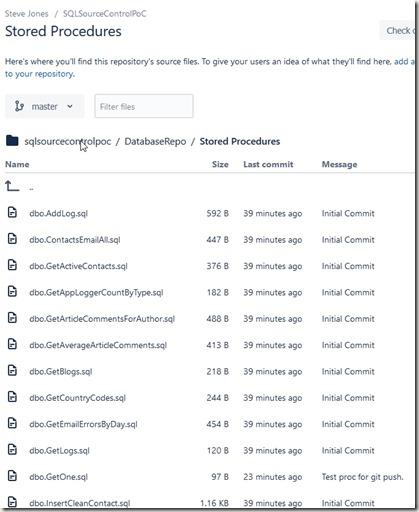 2019-03-14 10_56_42-way0utwest _ sqlsourcecontrolpoc _ DatabaseRepo _ Stored Procedures — Bitbucket