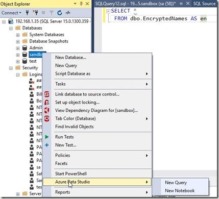 2019-04-25 09_51_17-SQLQuery12.sql - 192.168.1.35.sandbox (sa (58))_ - Microsoft SQL Server Manageme