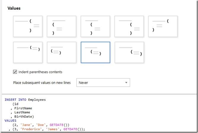 2019-04-25 12_35_39-SQL Prompt - Formatting styles