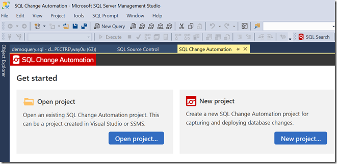 2019-09-19 14_50_45-SQL Change Automation - Microsoft SQL Server Management Studio