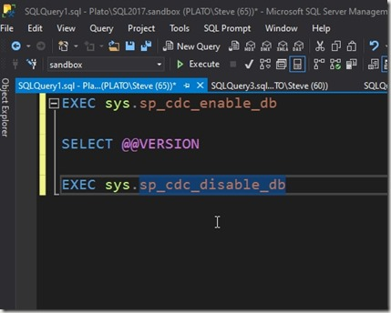 2020-03-19 11_11_39-SQLQuery1.sql - Plato_SQL2017.sandbox (PLATO_Steve (65))_ - Microsoft SQL Server