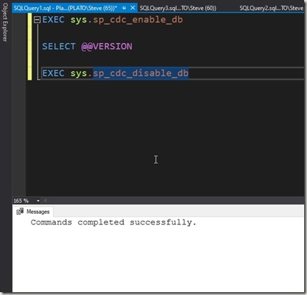 2020-03-19 11_12_01-SQLQuery1.sql - Plato_SQL2017.sandbox (PLATO_Steve (65))_ - Microsoft SQL Server