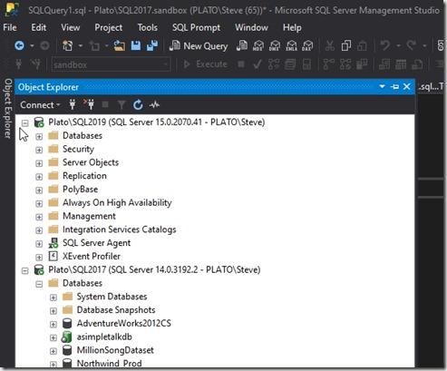 2020-03-19 11_12_12-SQLQuery1.sql - Plato_SQL2017.sandbox (PLATO_Steve (65))_ - Microsoft SQL Server