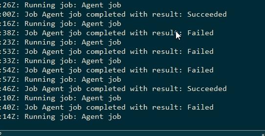 Azure DevOps agent output