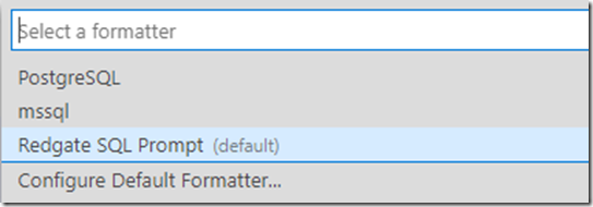 Installed formatters in ADS