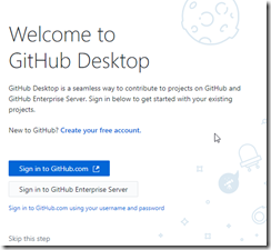 GitHub Desktop Welcome Screen