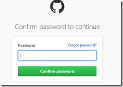 Enter GitHub Password