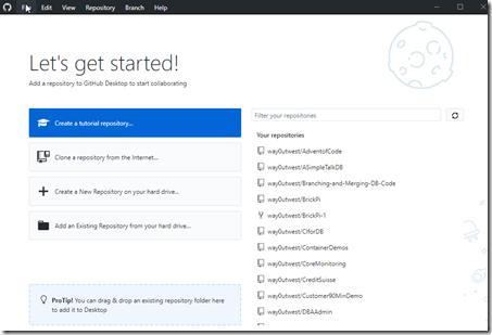 GitHub Desktop Get Started Screen
