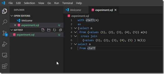 2020-05-28 13_26_59-experiment.sql - GitTest - Visual Studio Code