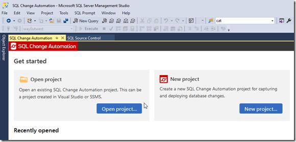2020-07-08 10_22_54-SQL Change Automation - Microsoft SQL Server Management Studio