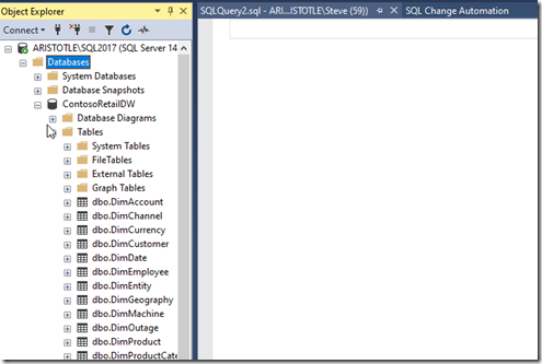 2020-07-28 11_29_28-SQLQuery2.sql - ARISTOTLE_SQL2017.master (ARISTOTLE_Steve (59)) - Microsoft SQL