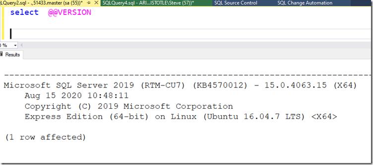 2020-09-14 11_15_49-SQLQuery2.sql - .,51433.master (sa (55))_ - Microsoft SQL Server Management Stud